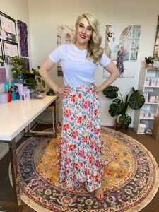 Peach Rose Wrap Skirt - Last Sizes