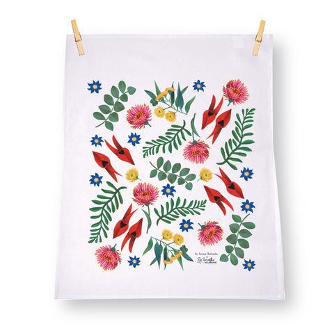Collaboration Australian designed Linen Tea Towel