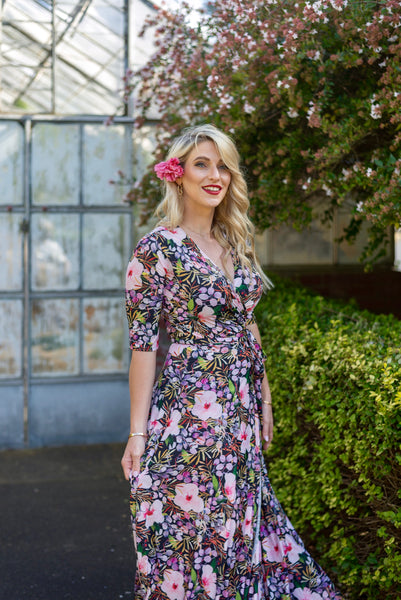 All 2020 Prints: Poppy wrap dress