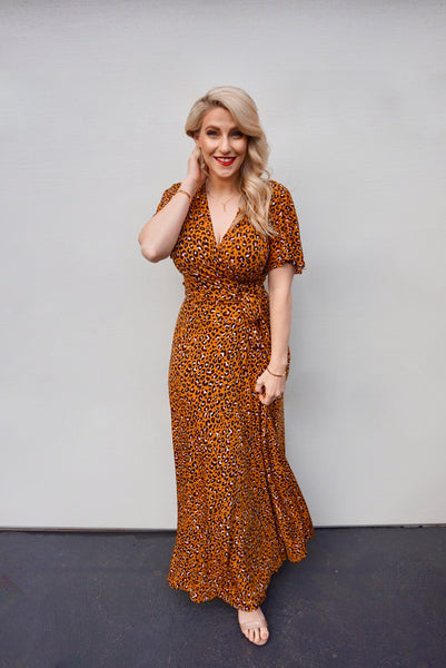 Jessica Leopard Wrap Dress - Last Sizes
