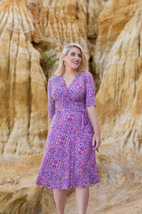 Ngapa Jukurrpa (Water Dreaming) wrap dress- Pre-order March 2021