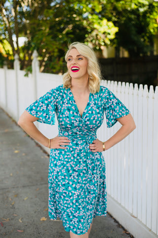 Grace Wrap Dress: Pre Order April