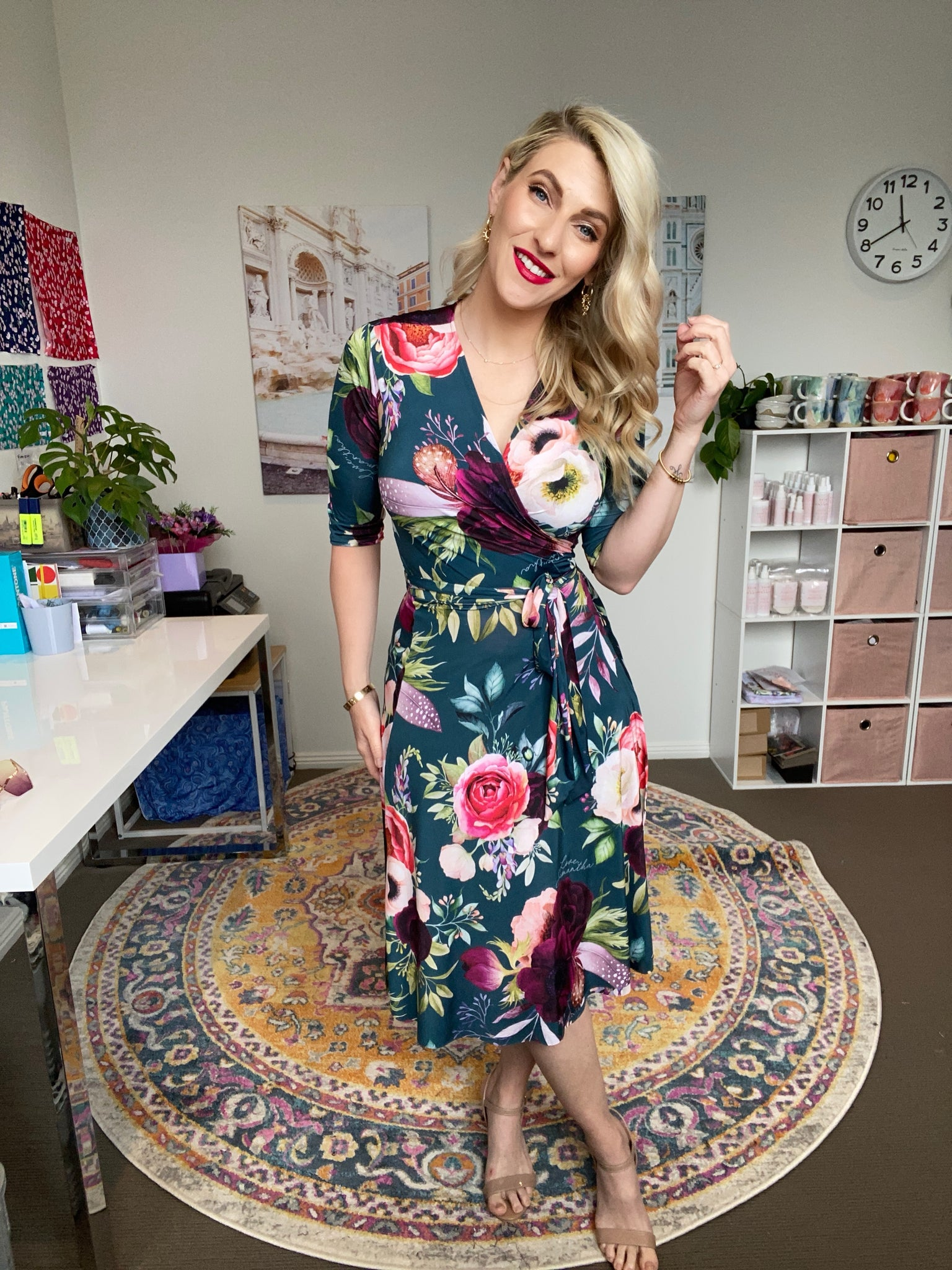 Allegra wrap dress -pre order Dec 2020