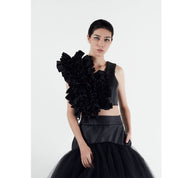 AMAP Op. 1 Forte Monochrome Ruffled Crop Top | MTM
