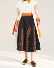 REPETITION Orange Waistband Stripe Culottes