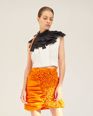 REPETITION Semi A-Line, Mini Skirt with 3D Pleats
