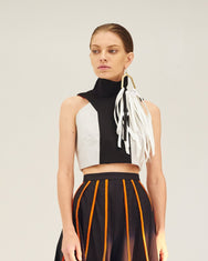 REPETITION High Collar Crop Top
