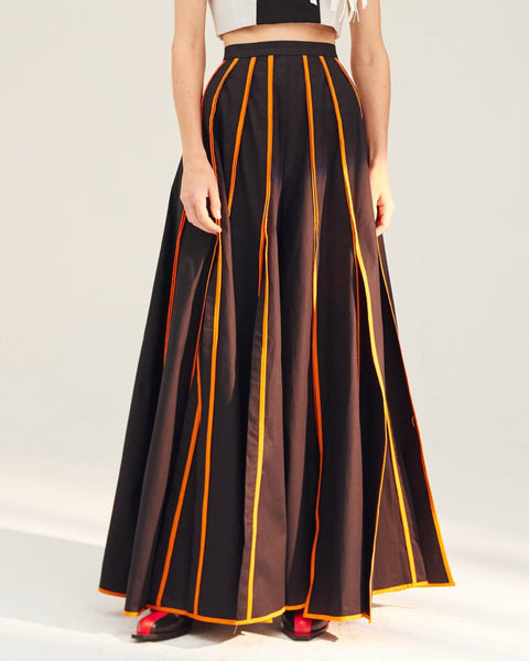 REPETITION Straps Palazzo Maxi Pants