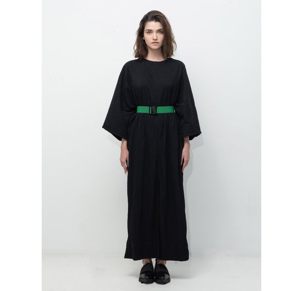 SEGUE Oversized Minimal Long Dress with Belt