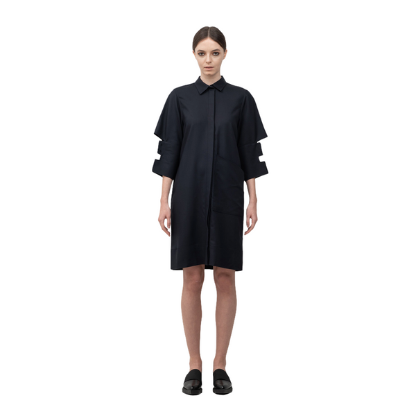 SEGUE Cut-out Cuff Shirt Dress