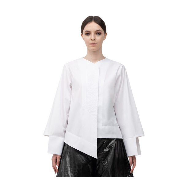 SEGUE V-Neck Cut-out Sleeves Shirt