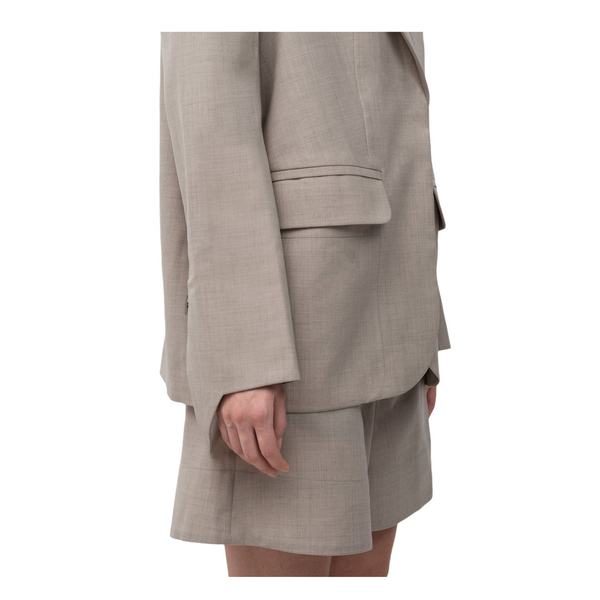 SEGUE Pointed Sleeves Asymmetric Collar Tailor Suit
