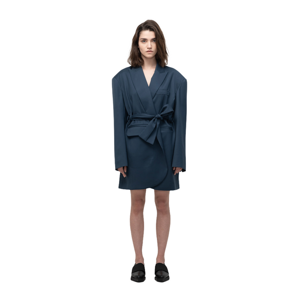 SEGUE Oversized Wool Blazer Dress