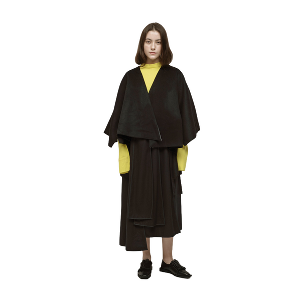 UNERWARTET, ICH Wool Cut-out Cape