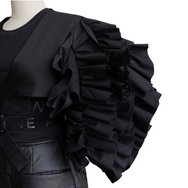 AMAP Op. 1 Fortissimo Ruffled Art Crop Top | MTM