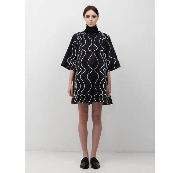 SEGUE Printed High Collar Dress