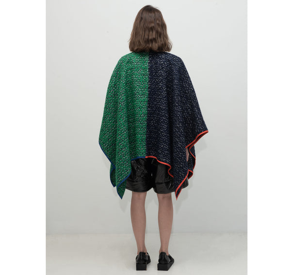 SEGUE Square Neck Two-tone Cape