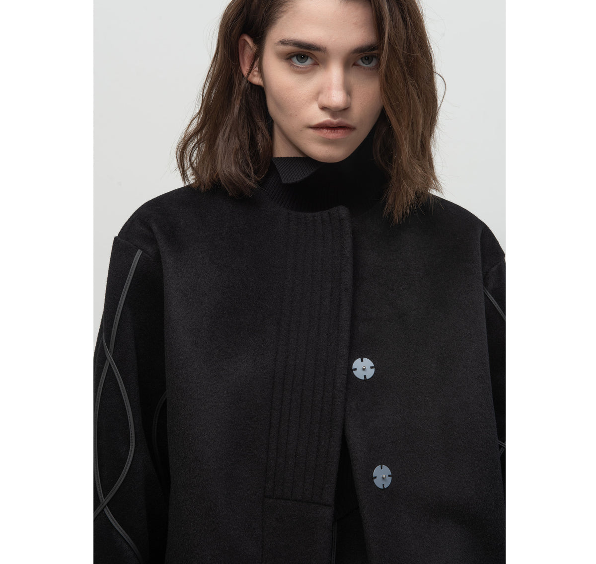 SEGUE Wavy Lines Wool Jacket