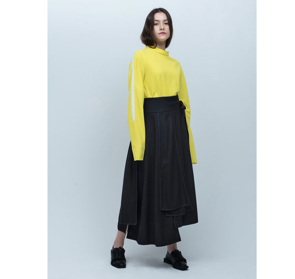 UNERWARTET, ICH Wool Repetition Skirt