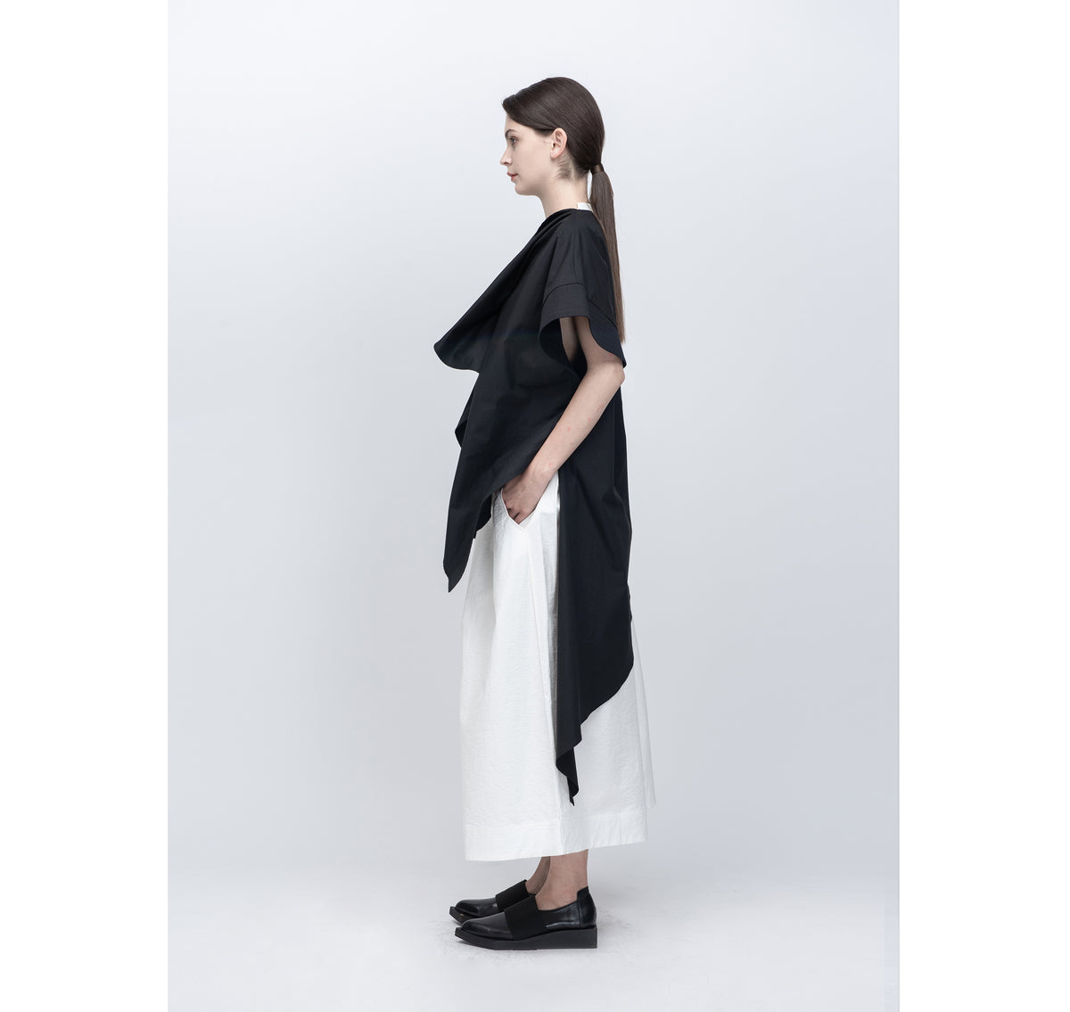 PERCEPTION Asymmetrical Long Shirt - Preorder