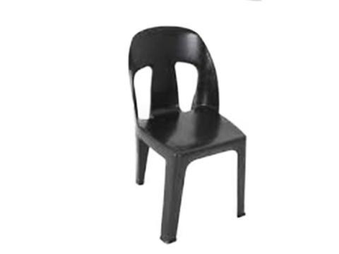 BOS001 Boston chair - 2 hole chair (black recycled)-Plastic Chairs-Moolla Furniture Corp CC