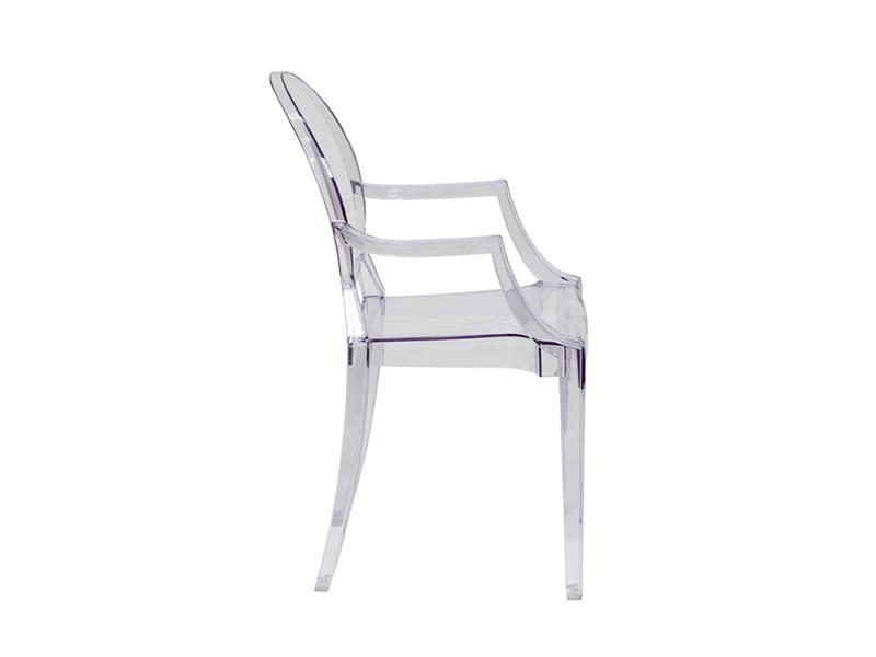 GHO003  Kiddies Ghost Chair  Clear (with Arms)