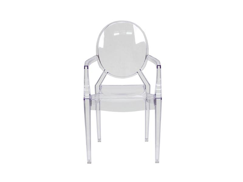 GHO003 -Kiddies Ghost Chair- Clear (with arms)-Plastic Chairs-Moolla Furniture Corp CC