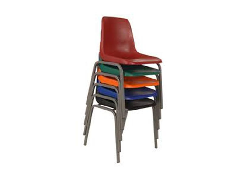 SFC004 -Polyprop/ School Chair-Junior Virgin Seat (Colour-Red/Blue)-Plastic Chairs-Moolla Furniture Corp CC