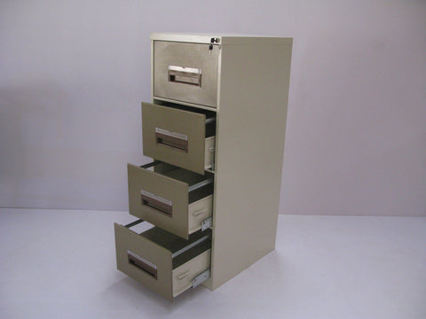 FIL001 - 4 Drawer Filing Cabinet- Local 1320H x 460H x 630D-Steel Furniture-Moolla Furniture Corp CC