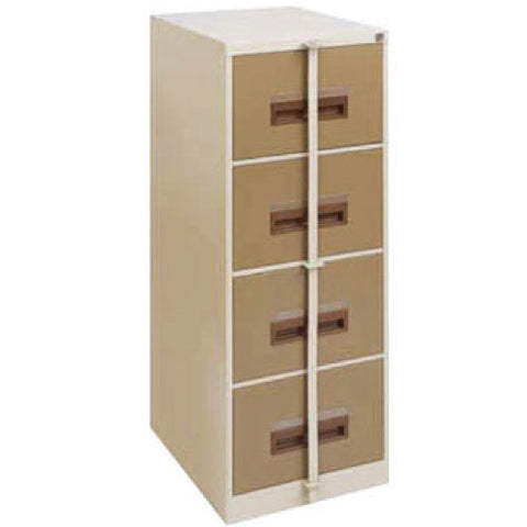 FIL002 - 4 Drawer Filing Cabinet- Local 1320H x 460W x 630D (with Security Bar)-Steel Furniture-Moolla Furniture Corp CC