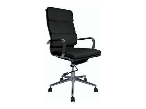 Office Alaska Highback Chair (Black)-Office Chairs-Moolla Furniture Corp CC