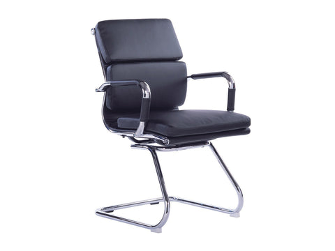 Office Alaska Visitors Chair (Black)-Office Chairs-Moolla Furniture Corp CC