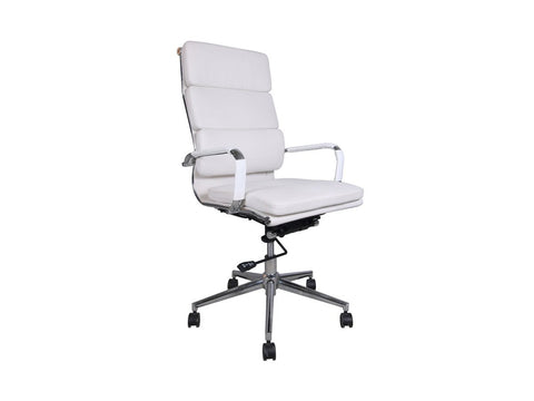 Office Alaska Highback Chair (White)-Office Chairs-Moolla Furniture Corp CC