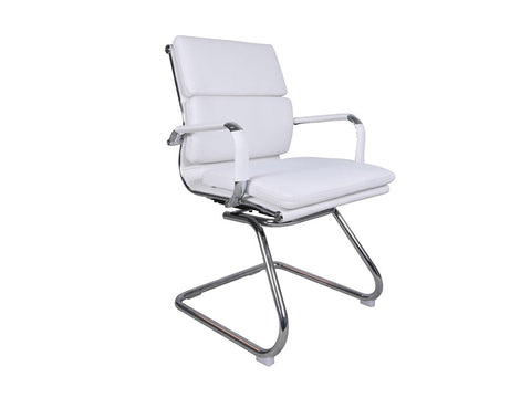 Office Alaska Visitors Chair (White)-Office Chairs-Moolla Furniture Corp CC