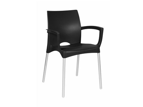 ALE001 - Bistro/ Cafe' Alexis Chair (Square Armrest)-Plastic Chairs-Moolla Furniture Corp CC