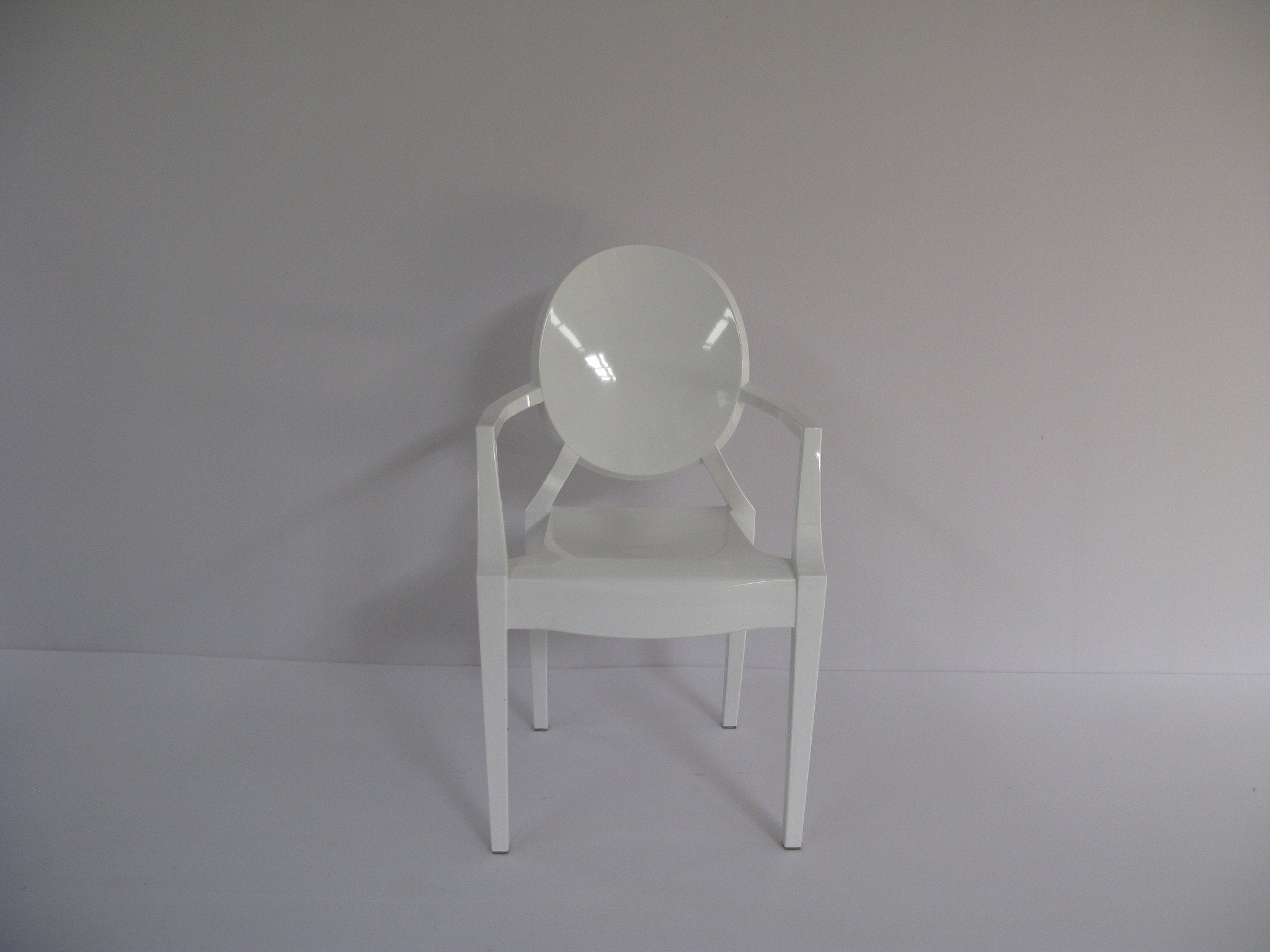 Gho003 kiddies ghost chair clear with arms