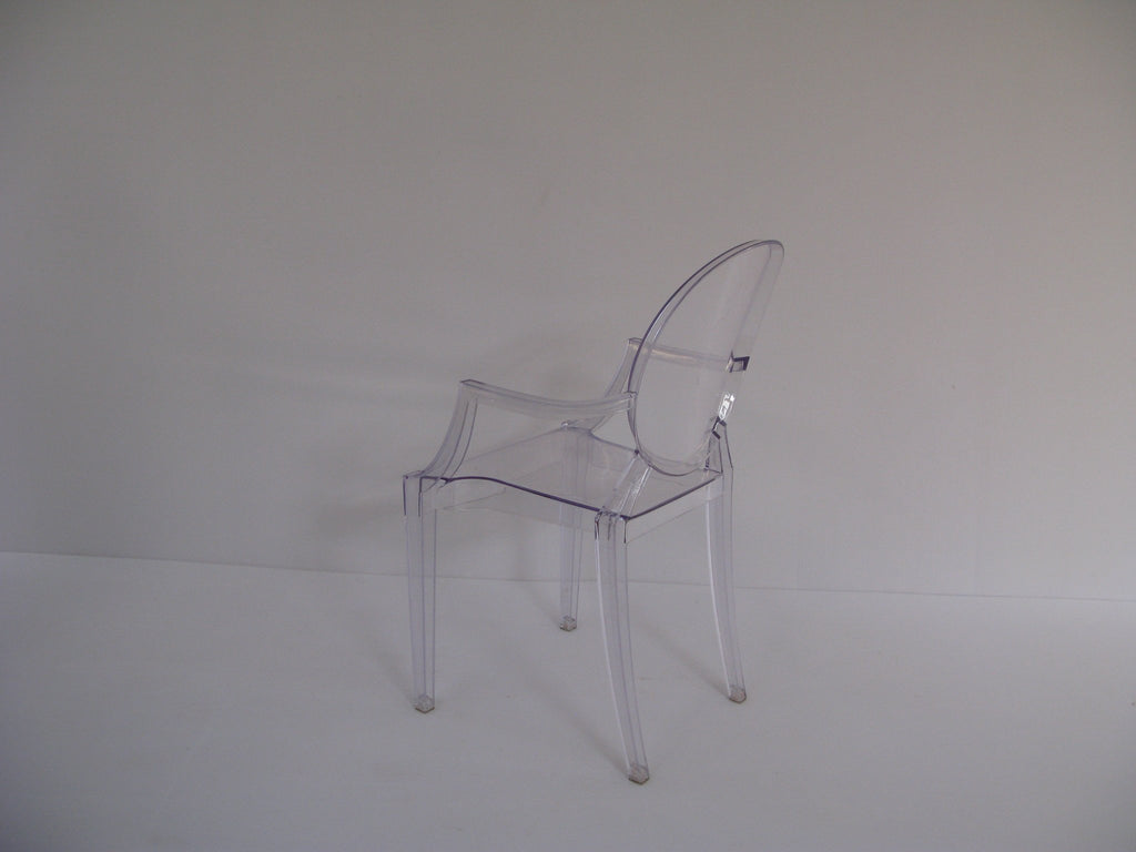 GHO001 -Ghost Chair- Clear (with arms)-Plastic Chairs-Moolla Furniture Corp CC