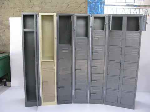 LOC003 - Three Compartment Locker (1800H X 300W X 450D)-Steel Furniture-Moolla Furniture Corp CC
