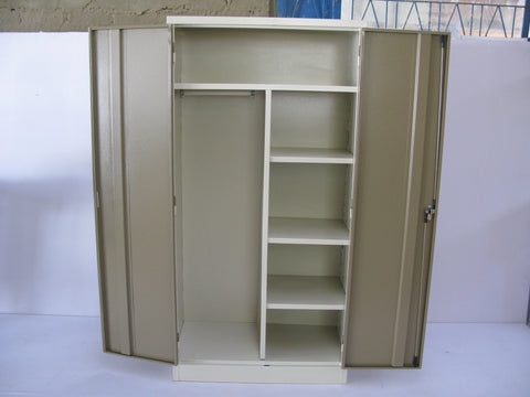 WAR001 - Gents Wardrobe 1800H x 900W x 450D hangrail/ 3 adjustable shelves-Steel Furniture-Moolla Furniture Corp CC