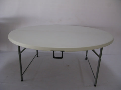 ROU002 - Fold in Half Round Plastic Tables- 1600mm (seats 8 -10 people)-Tables-Moolla Furniture Corp CC