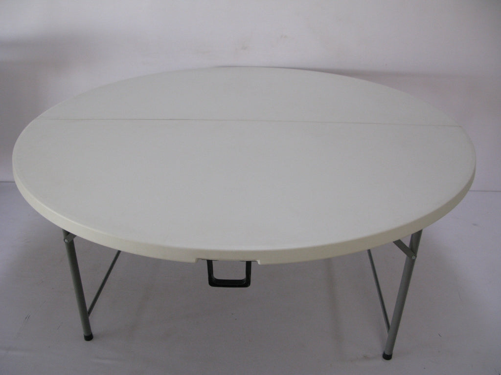 ROU004 - Fold in Half Round Plastic Tables- 1500mm (seats 8 -10 people)-Tables-Moolla Furniture Corp CC