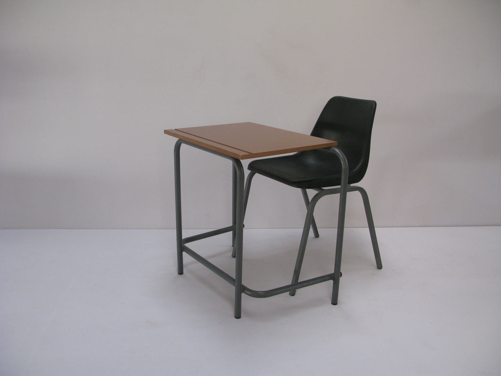 SCH004 - SUPAWOOD Junior Single School Desk (600mm x 450mm x 550mmhigh/650mmhigh)-School Furniture-Moolla Furniture Corp CC