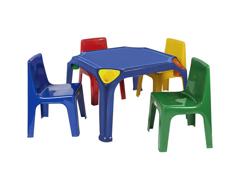 KID002 - Kiddies Table with pencil groove and holder (Virgin)- Buzzy Bee-Tables-Moolla Furniture Corp CC