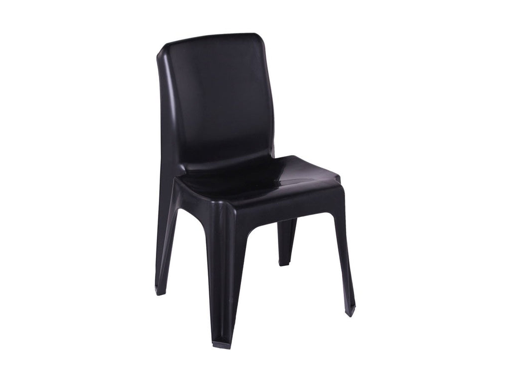 CAR001 -Carlow Plastic Chair (Black Recycled)-Plastic Chairs-Moolla Furniture Corp CC