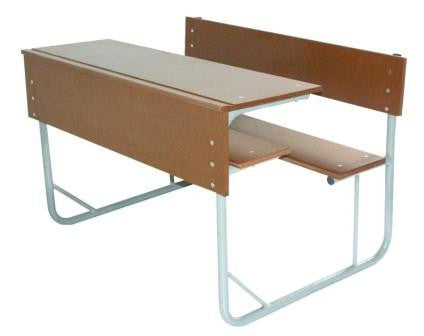 SCH007 - SUPAWOOD Junior Double Combination School Desk (1000mm x 400mm x 550mmhigh/650mmhigh)-School Furniture-Moolla Furniture Corp CC