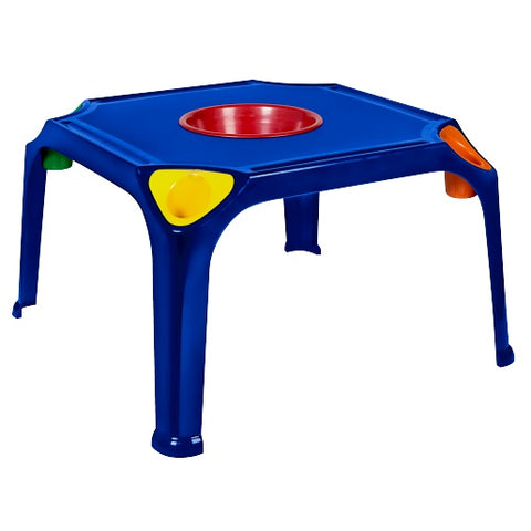 KID005 - Kiddies Table with pencil groove and holder with bowl (Virgin)- Buzzy Bee-Tables-Moolla Furniture Corp CC