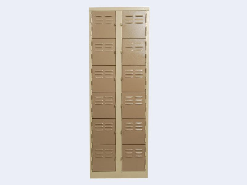 LOC12 - Twelve Compartment Locker (1800H x 600W x 380D)-Steel Furniture-Moolla Furniture Corp CC