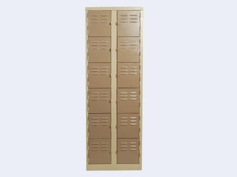 LOC12 - Twelve Compartment Locker-Steel Furniture-Moolla Furniture Corp CC