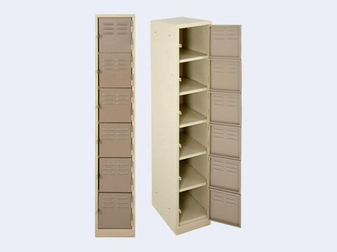LOC006 - Six Compartment Locker (1800H X 300W X 450D)-Steel Furniture-Moolla Furniture Corp CC