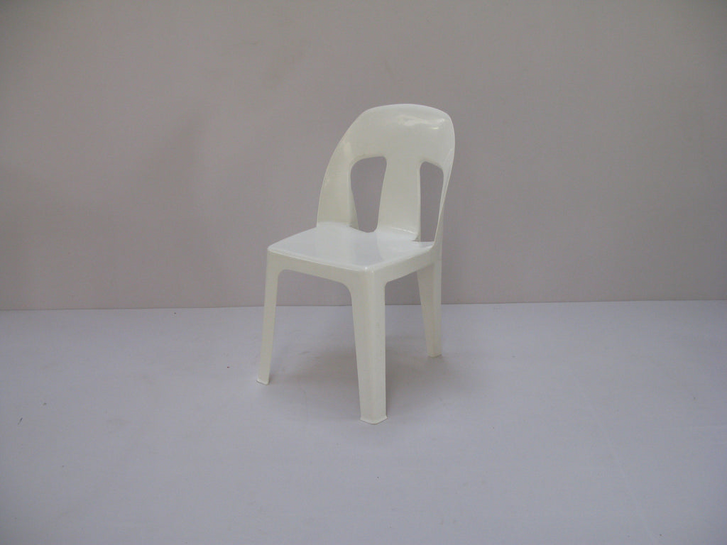 AFR006 Afri Chair Heavy Duty Recycled (White)-Plastic Chairs-Moolla Furniture Corp CC